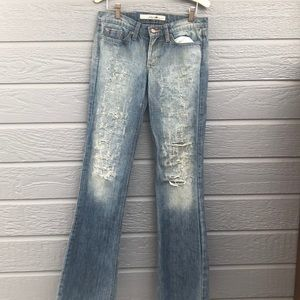 Joe's Jeans women's  27 distressed wide leg jeans